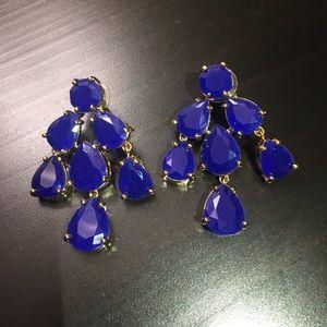 Royal blue Kate Spade ♠️ chandelier earrings